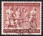 BERLIN 1954 Michel-Nummer 125 gestempelt EINZELMARKE (f)
