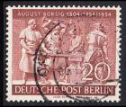 BERLIN 1954 Michel-Nummer 125 gestempelt EINZELMARKE (d)