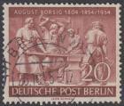 BERLIN 1954 Michel-Nummer 125 gestempelt EINZELMARKE (n)
