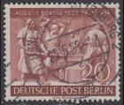 BERLIN 1954 Michel-Nummer 125 gestempelt EINZELMARKE (m)