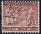 BERLIN 1954 Michel-Nummer 125 gestempelt EINZELMARKE (a)