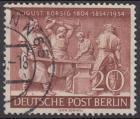 BERLIN 1954 Michel-Nummer 125 gestempelt EINZELMARKE (c)