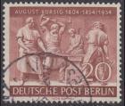 BERLIN 1954 Michel-Nummer 125 gestempelt EINZELMARKE (b)