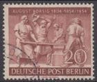 BERLIN 1954 Michel-Nummer 125 gestempelt EINZELMARKE (o)