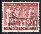 BERLIN 1954 Michel-Nummer 125 gestempelt EINZELMARKE (k)