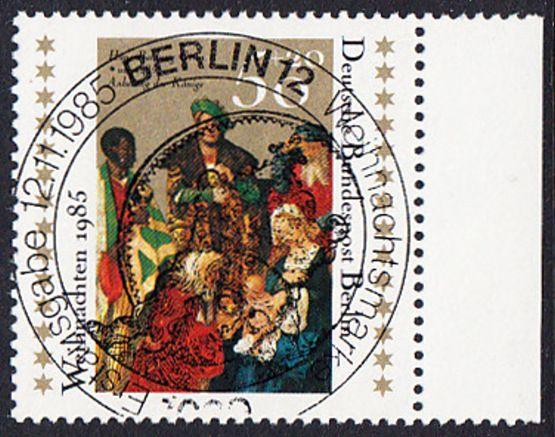 BERLIN 1985 Michel-Nummer 749 gestempelt EINZELMARKE RAND rechts (a)