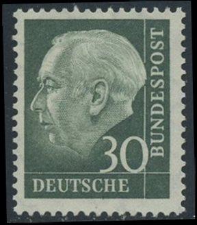 BUND 1957 Michel-Nummer 0259x postfrisch EINZELMARKE