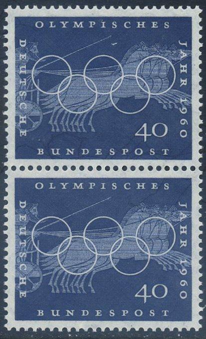 BUND 1960 Michel-Nummer 0335 postfrisch vert.PAAR