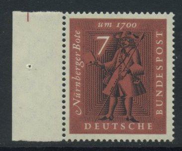 BUND 1961 Michel-Nummer 0365 postfrisch EINZELMARKE RAND links