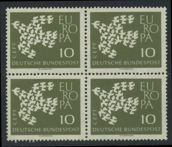 BUND 1961 Michel-Nummer 0367y postfrisch BLOCK
