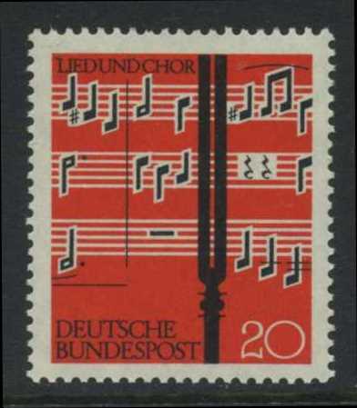 BUND 1962 Michel-Nummer 0380 postfrisch EINZELMARKE