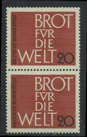 BUND 1962 Michel-Nummer 0389 postfrisch vert.PAAR