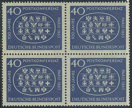 BUND 1963 Michel-Nummer 0398 postfrisch BLOCK