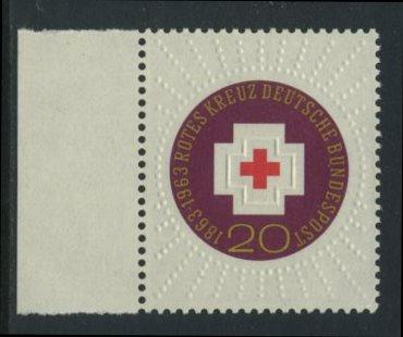 BUND 1963 Michel-Nummer 0400 postfrisch EINZELMARKE RAND links