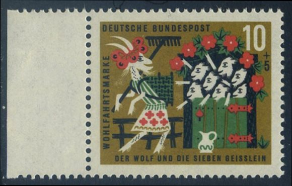 BUND 1963 Michel-Nummer 0408 postfrisch EINZELMARKE RAND links