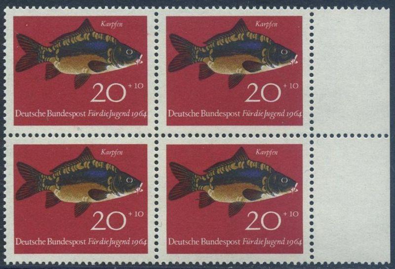 BUND 1964 Michel-Nummer 0414 postfrisch BLOCK RÄNDER rechts