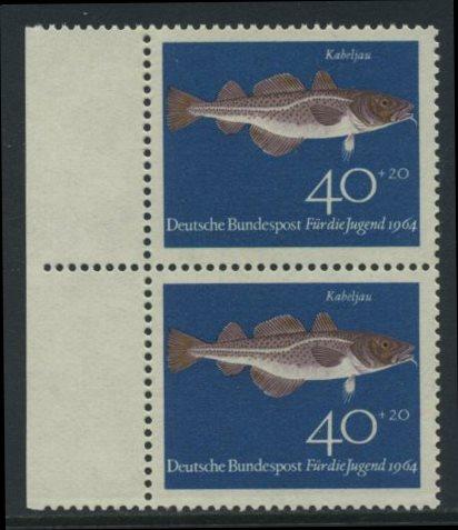 BUND 1964 Michel-Nummer 0415 postfrisch vert.PAAR RAND links