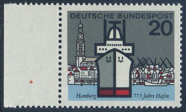 BUND 1964 Michel-Nummer 0417 postfrisch EINZELMARKE RAND links