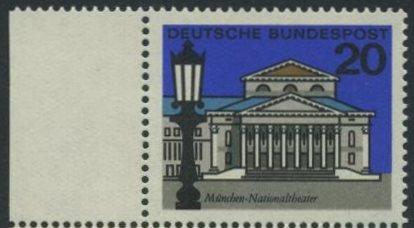 BUND 1964 Michel-Nummer 0419 postfrisch EINZELMARKE RAND links