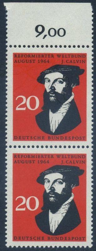 BUND 1964 Michel-Nummer 0439 postfrisch vert.PAAR RAND oben
