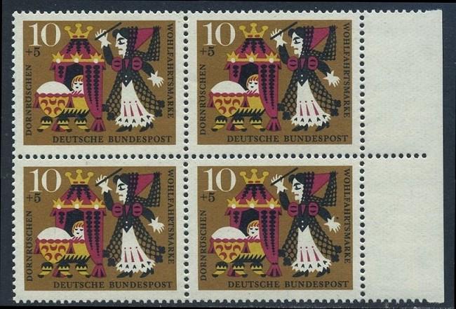 BUND 1964 Michel-Nummer 0447 postfrisch BLOCK RÄNDER rechts