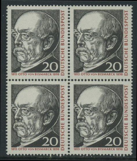 BUND 1965 Michel-Nummer 0463 postfrisch BLOCK