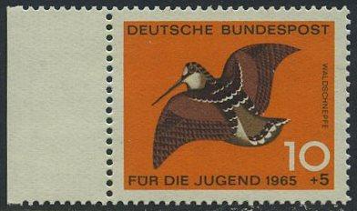 BUND 1965 Michel-Nummer 0464 postfrisch EINZELMARKE RAND links