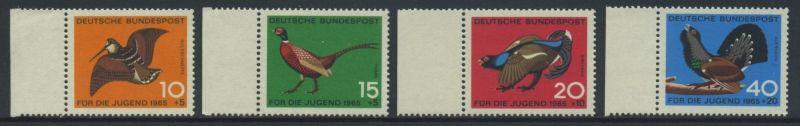 BUND 1965 Michel-Nummer 0464-0467 postfrisch SATZ(4) EINZELMARKEN RÄNDER links
