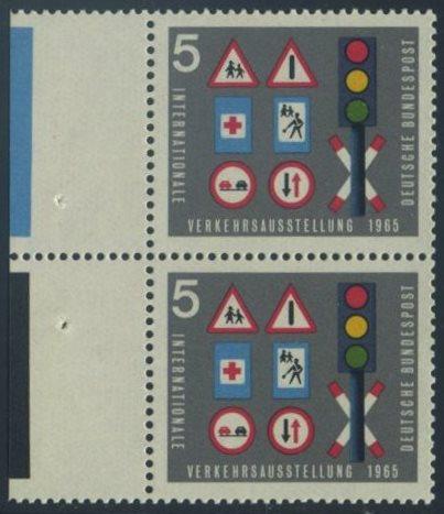 BUND 1965 Michel-Nummer 0468 postfrisch vert.PAAR RAND links