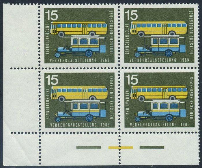 BUND 1965 Michel-Nummer 0470 postfrisch BLOCK ECKRAND unten links