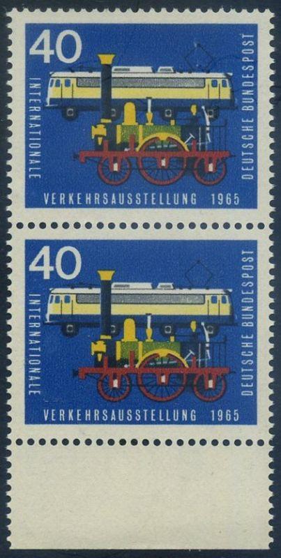 BUND 1965 Michel-Nummer 0472 postfrisch vert.PAAR RAND unten