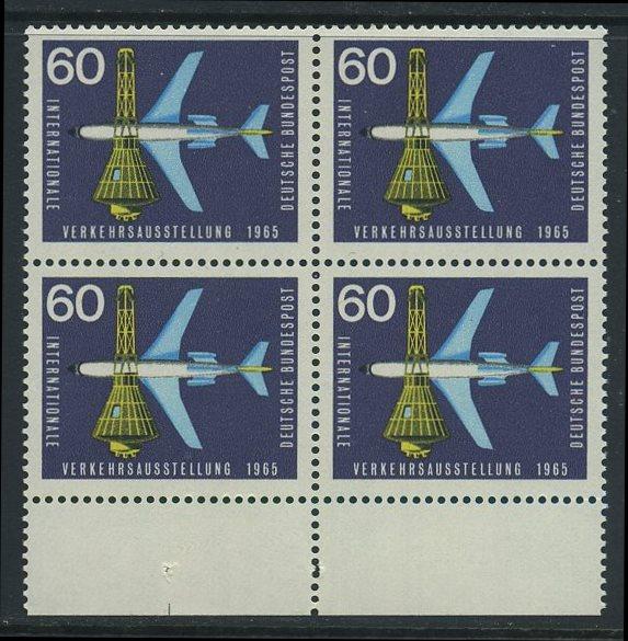 BUND 1965 Michel-Nummer 0473 postfrisch BLOCK RÄNDER unten