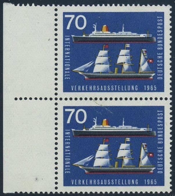 BUND 1965 Michel-Nummer 0474 postfrisch vert.PAAR RAND links