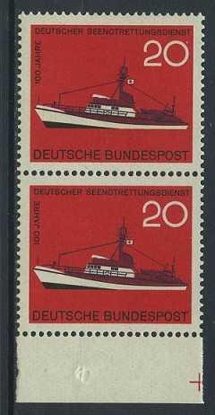 BUND 1965 Michel-Nummer 0478 postfrisch vert.PAAR RAND unten