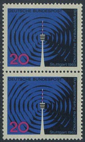 BUND 1965 Michel-Nummer 0481 postfrisch vert.PAAR