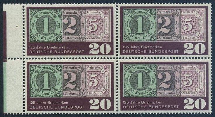 Bund 1965 Michel Nummer 0482 Postfrisch Block Ränder Links B Nr