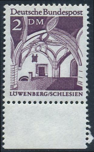 BUND 1966 Michel-Nummer 0503 postfrisch EINZELMARKE RAND unten