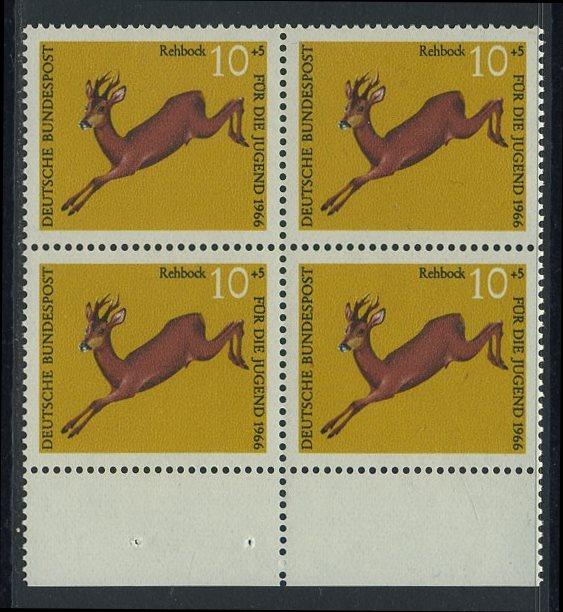 BUND 1966 Michel-Nummer 0511 postfrisch BLOCK RÄNDER unten