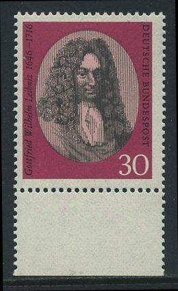 BUND 1966 Michel-Nummer 0518 postfrisch EINZELMARKE RAND unten