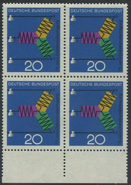 BUND 1966 Michel-Nummer 0521 postfrisch BLOCK RÄNDER unten