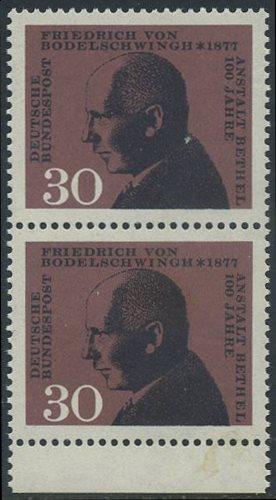 BUND 1967 Michel-Nummer 0537 postfrisch vert.PAAR RAND unten
