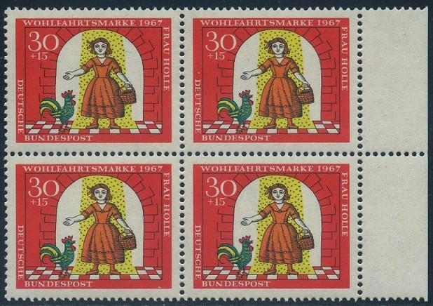 BUND 1967 Michel-Nummer 0540 postfrisch BLOCK RÄNDER rechts