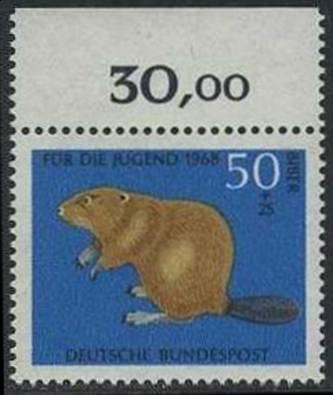 BUND 1968 Michel-Nummer 0552 postfrisch EINZELMARKE (b)