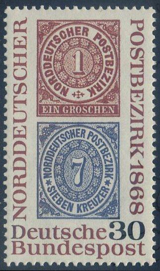 BUND 1968 Michel-Nummer 0569 postfrisch EINZELMARKE