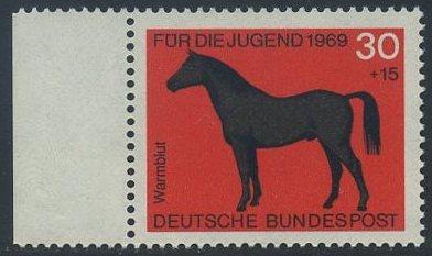 BUND 1969 Michel-Nummer 0580 postfrisch EINZELMARKE RAND links