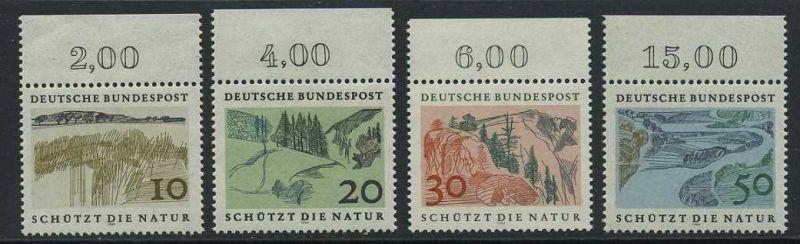 BUND 1969 Michel-Nummer 0591-0594 postfrisch SATZ(4) EINZELMARKEN RÄNDER oben (a)