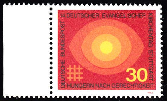 BUND 1969 Michel-Nummer 0595 postfrisch EINZELMARKE RAND links