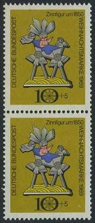 BUND 1969 Michel-Nummer 0610 postfrisch vert.PAAR