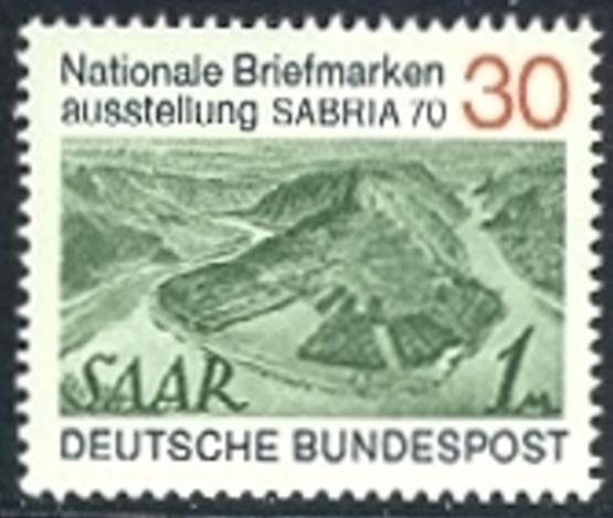 BUND 1970 Michel-Nummer 0619 postfrisch EINZELMARKE