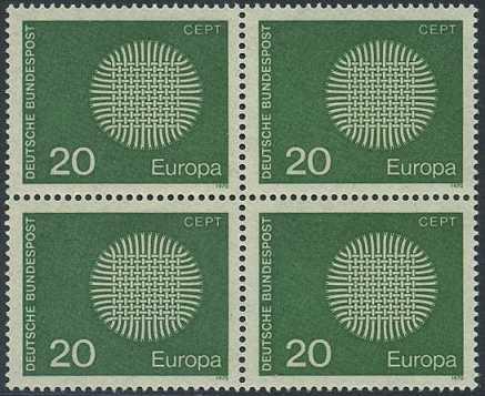 BUND 1970 Michel-Nummer 0620 postfrisch BLOCK